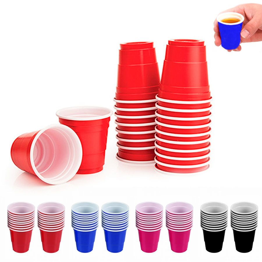 100 Mini Cups 2oz Plastic Shot Glasses Jello Jelly Drink Party Disposable Colors 7795735195802 Ebay Plastic Shot Glasses With Images Wine Samples
