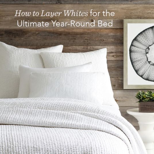 How To Decorate And Layer White Bedding We Re Covering One Of Our