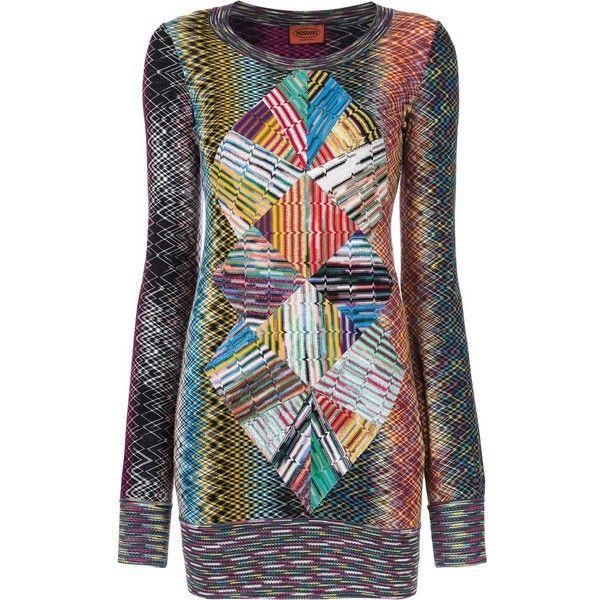 Multi color sweater dress