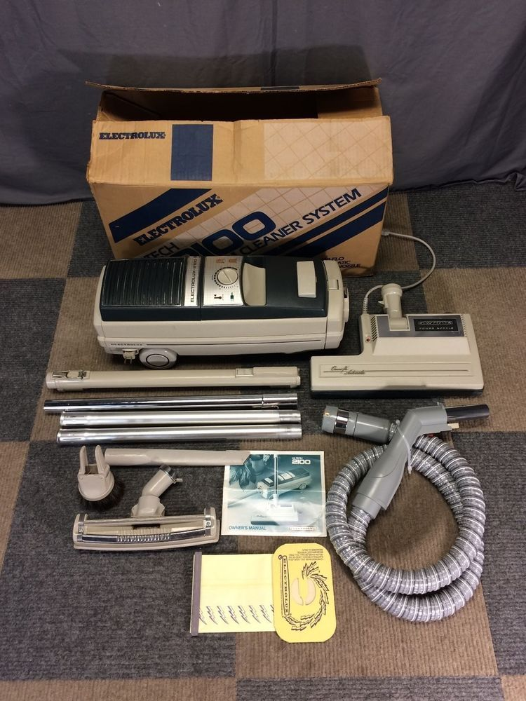 Works Perfect Electrolux Hi Tech 2100 Canister Bag Power Nozzle Vacuum Complete Electrolux Electrolux Vacuum Electrolux Vacuums