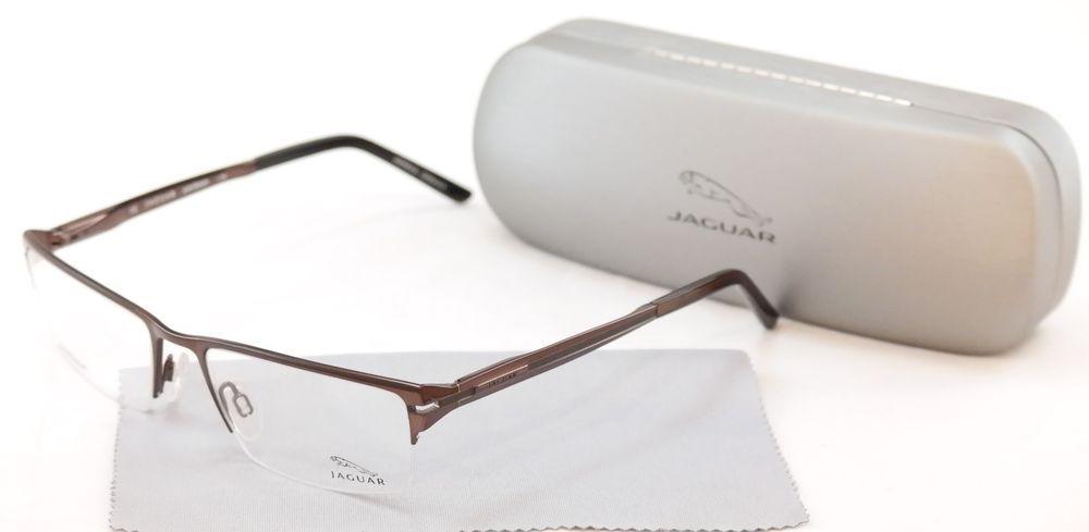 85647654b8f Jaguar Eyeglasses 39504-510 Brown Sand Metal Frame Germany Made 54-18-140   Jaguar