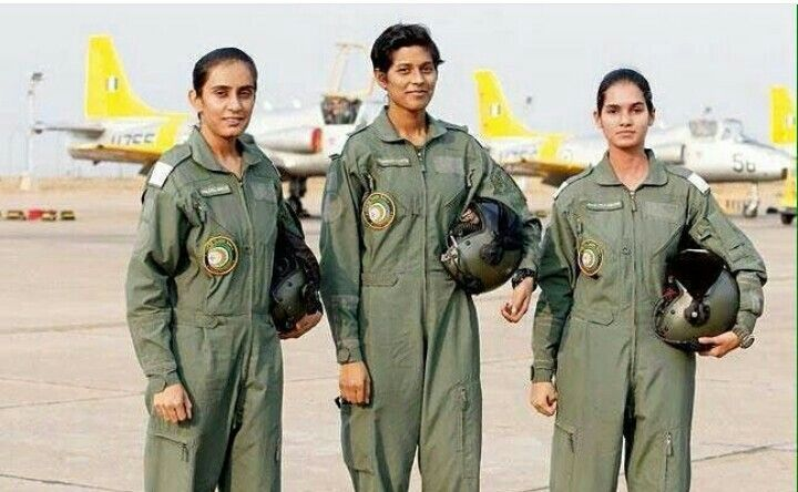 Bhawana Kanth, Avani Chatuvedi and Mohana Singh - were commissioned in the Indian Air Force today. #India's #FirstThree #WomenFighter #Pilots