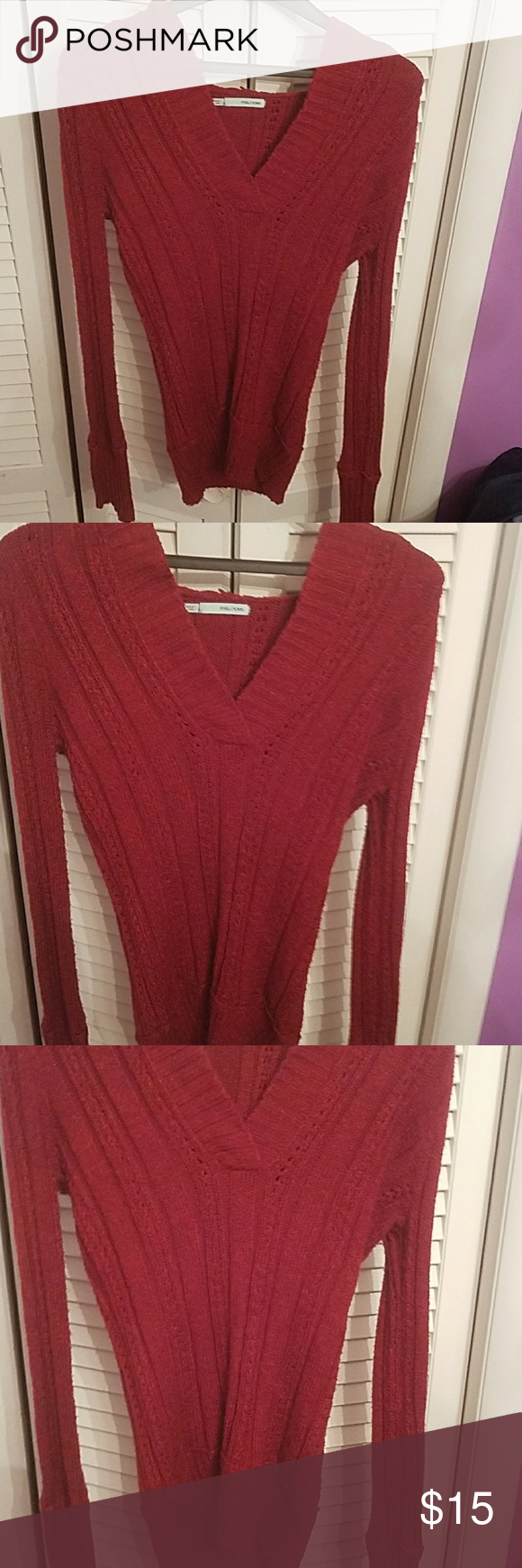 GORGEOUS Maurices Hoodie type sweater:) A beautiful type red ...