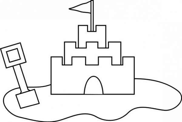 Sand Castle Sand Castle Outline Coloring Page Castle Coloring
