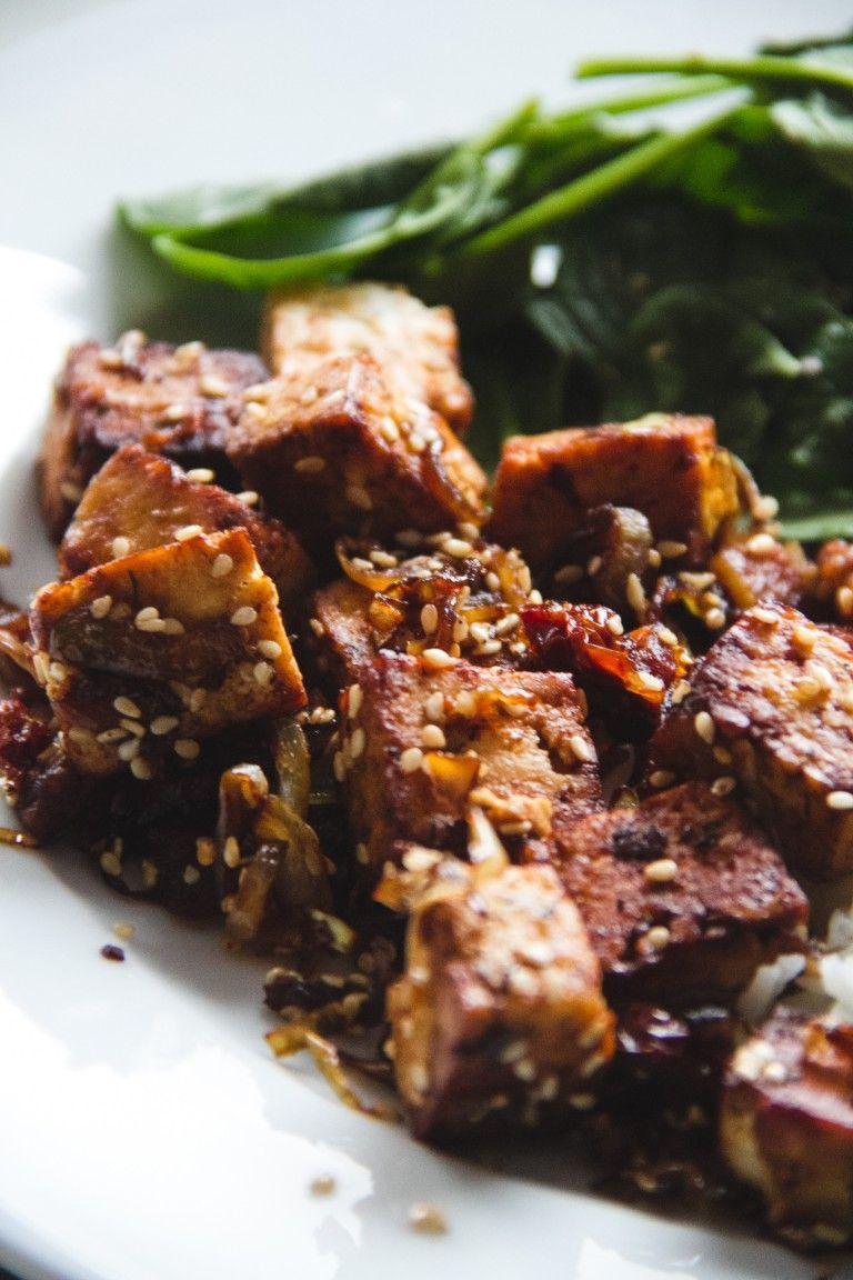 Caramelized tofu | Vegetarian Dishes | Tofu, Tofu recipes