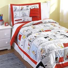 Peanuts, Snoopy and Charlie Brown bedding