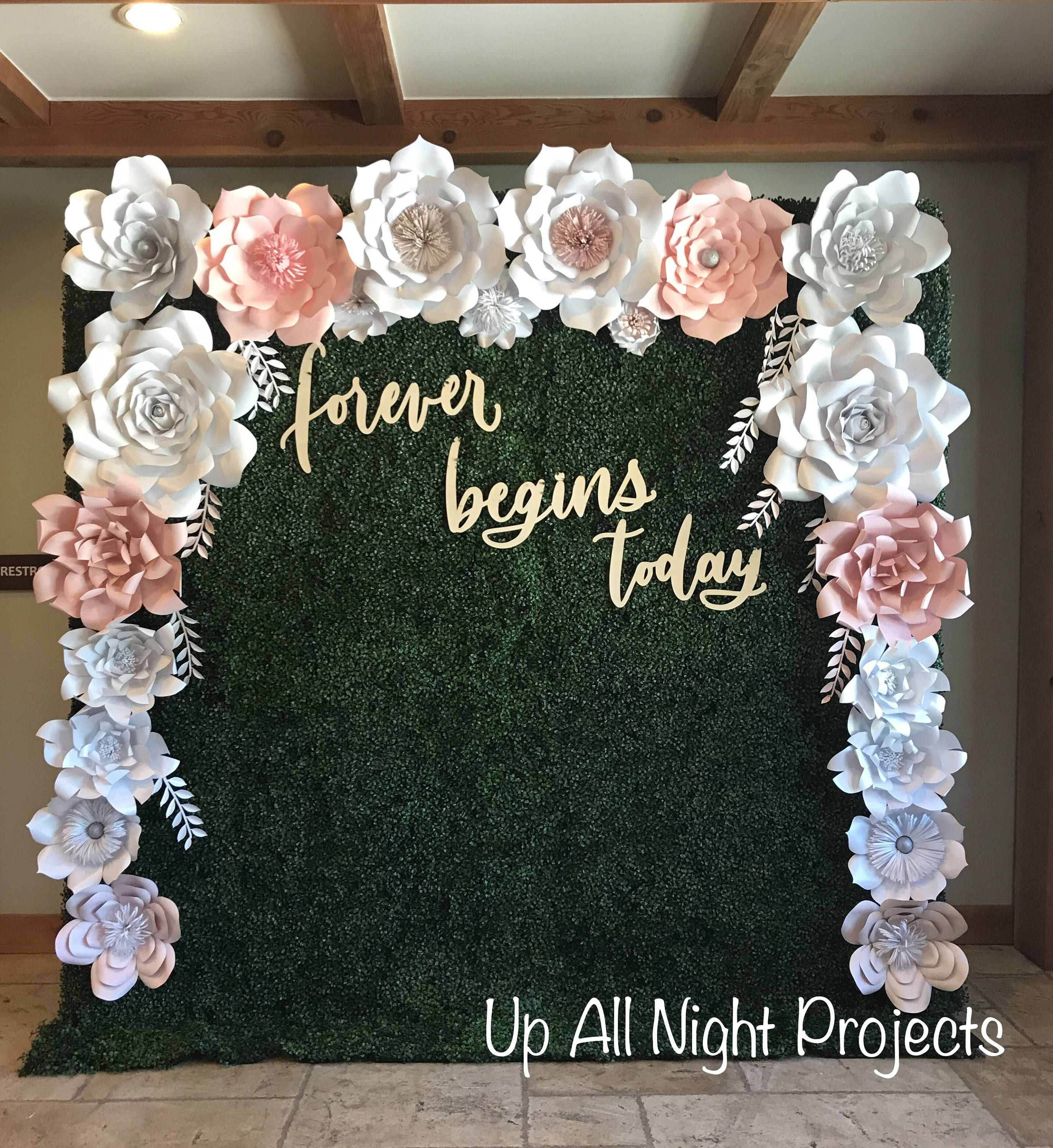 Paper Flower Backdrop or Wall Decor, Giant Paper Flowers, Wedding Backdrop, Party Flowers, Custom Paper Flowers #paperflowersdiy