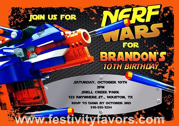 22 Best images about Nerf party on Pinterest 10th birthday
