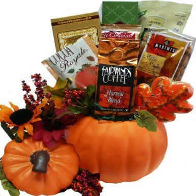 SCHEDULE YOUR DELIVERY DAY! Fall Harvest Ceramic Pumpkin Gourmet Food Gift Basket: Amazon.com: Grocery & Gourmet Food