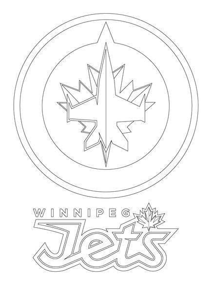 winnipeg jets logo coloring page
