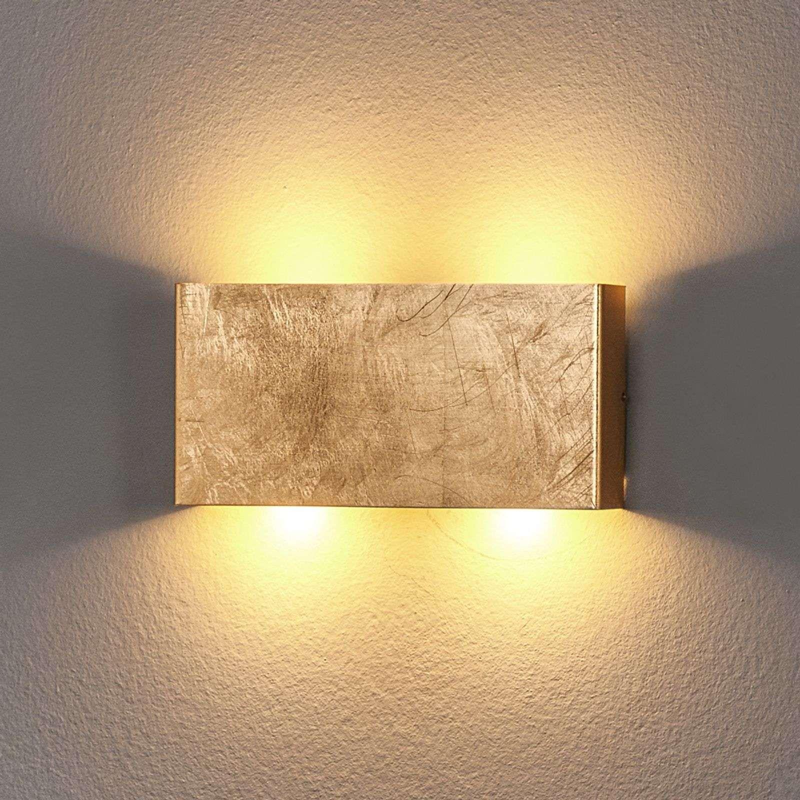 Goldfarbene LED Wandleuchte Maja, dimmbar   Wandleuchte, Led