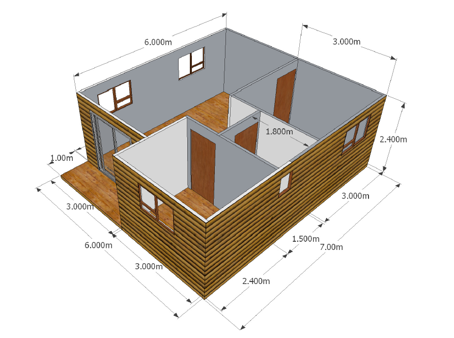 2 Bedroom Unit Wendy Houses Pretoria And Cape Town 012 670 9068 Nutec Houses Wendy House House Maid