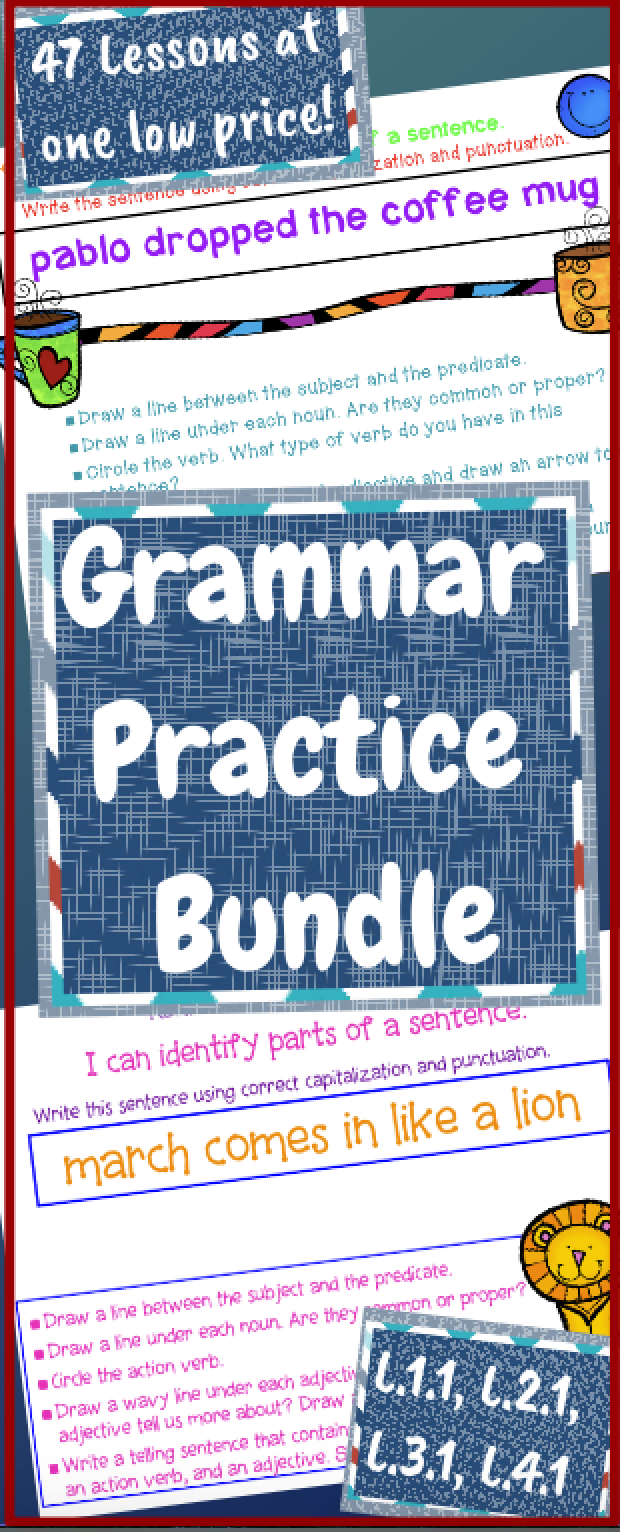 Grammar Review and Grammar Practice MEGA-Bundle Power Point ...
