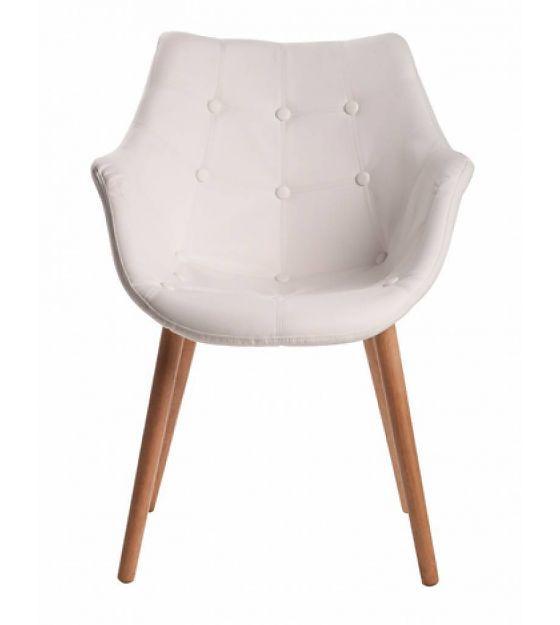 Zuiver Stoel wit kunstleer 79x58x58cm, Chair Eleven white - lefliving.be