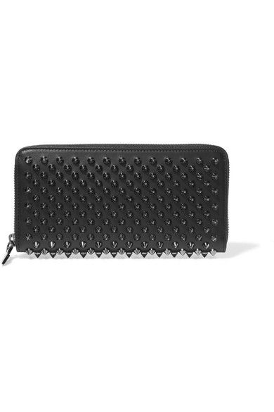 5477957bd0 Christian Louboutin - Panettone Spiked Leather Wallet - Black ...