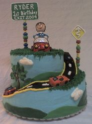 Road of Life 1st Birthday Cake