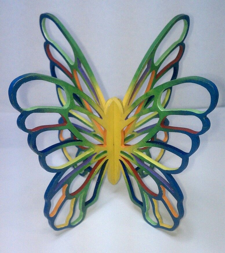 Wooden Butterfly 3-D Ornament