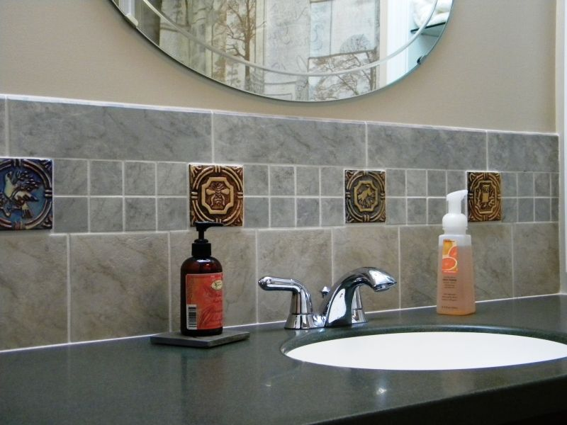 Backsplash Accented With Mercer Moravian Tiles Handmade In Prepossessing Bathroom Kitchen Remodeling Design Decoration