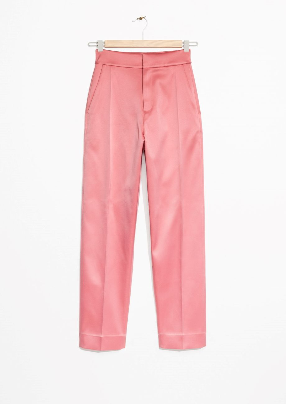 34c2c913 & Other Stories image 1 of High Waisted Trousers in Pink | Fashion ...