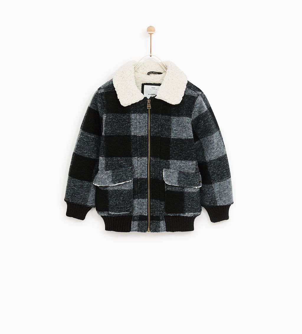 Kid's From Checked Pinterest Zara Jacket Fashion Aviator wT6qZpqfA
