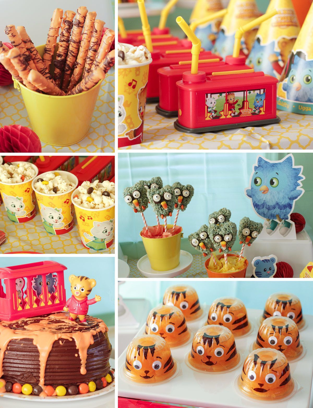 Daniel Tiger Party Ideas Kids Party Ideas At Birthday In A Box In 2021 Daniel Tiger Birthday Tiger Birthday Daniel Tiger Party