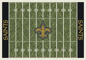 New Orleans Saints Home Field Rug In From