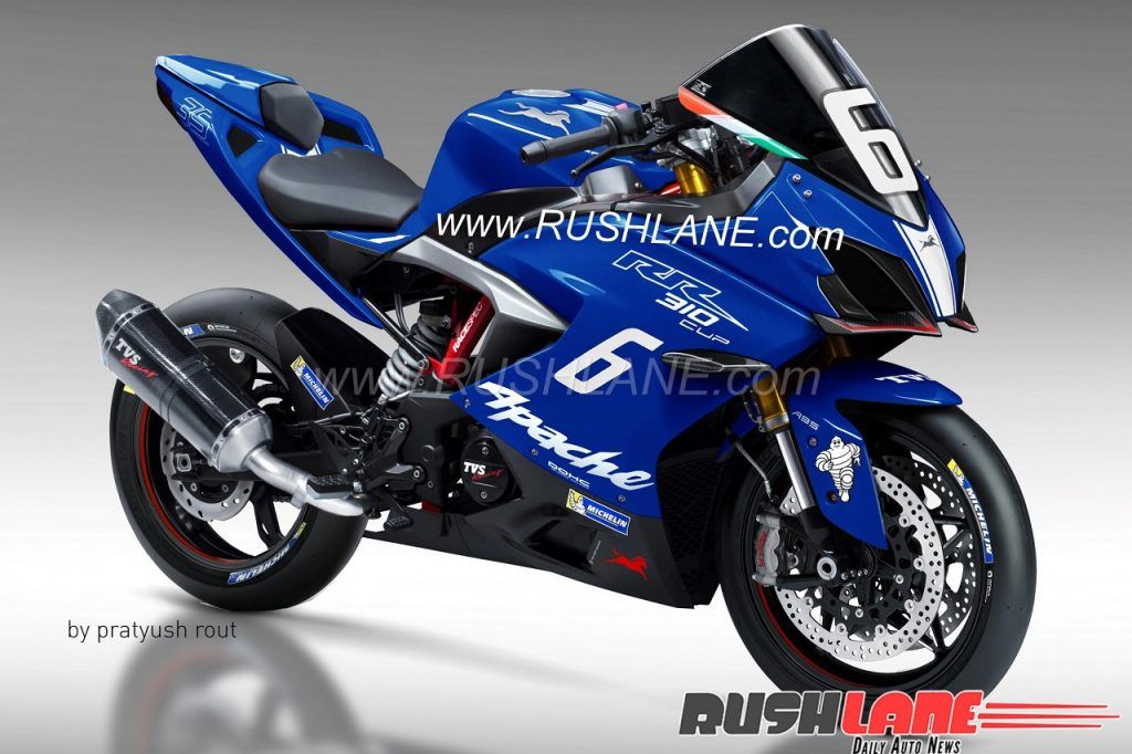 Race Spec Variant Of Tvs Apache Rr 310 Rendered Racing Apache