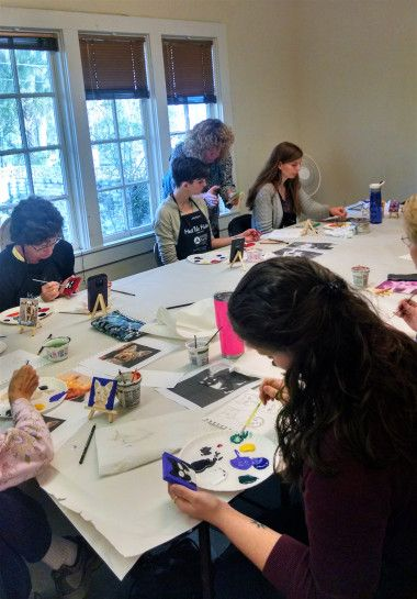 One-on-one instruction in the LeMoyne Mini Paint Your Pet workshop for any skill level.