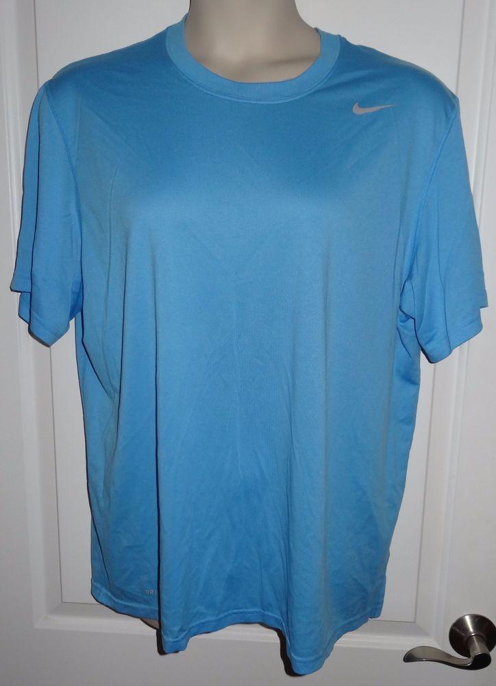 Nike T Shirt Men S Xl Tee Dri Fit Athletic Short Sleeve T Shirt Light Blue Kr Nike Shirtstops Nike T Shirt Mens Mens Shirts Long Sleeve Tshirt Men