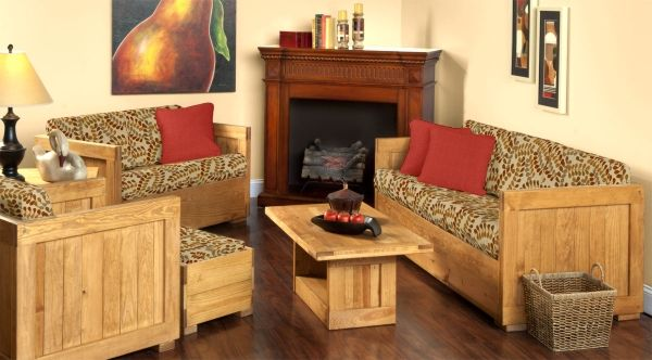 """Classic """"This End Up"""" pallet furniture lasts forever and gets"""