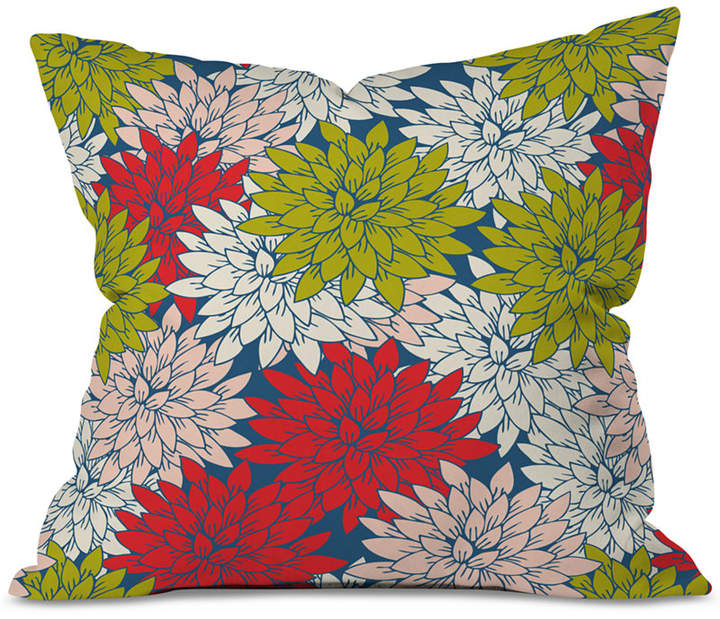 Deny Designs Holli Zollinger Winter Flora Throw Pillow