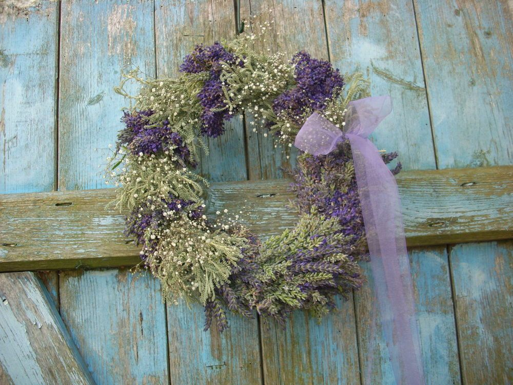 Lavendelkranz kranz aus echtem lavendel provence lavender - Dekoration lavendel ...