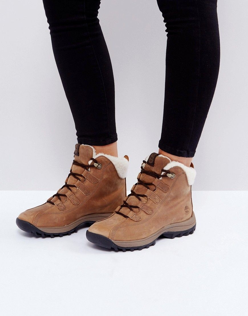 TIMBERLAND CANARD RESORT TAN WATERPROOF FAUX SHEARLING LINED BOOTS - TAN.   timberland  shoes   06978278af5f