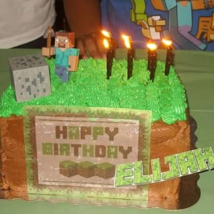 Minecraft Platform Cake Two Layers Of Chocolate With Target Bakery