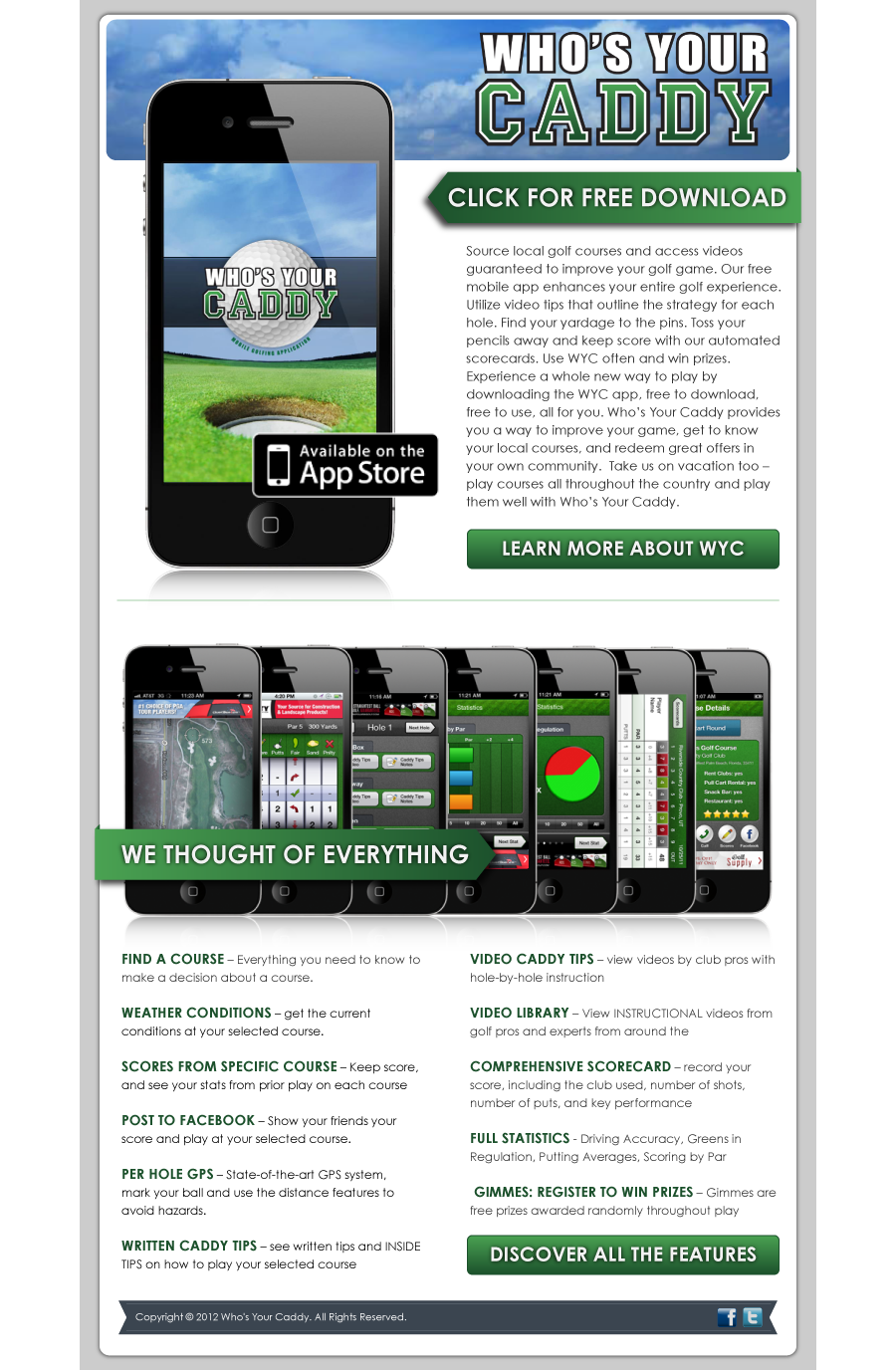 Golf Email Marketing for www WhosYourCaddy com | Email