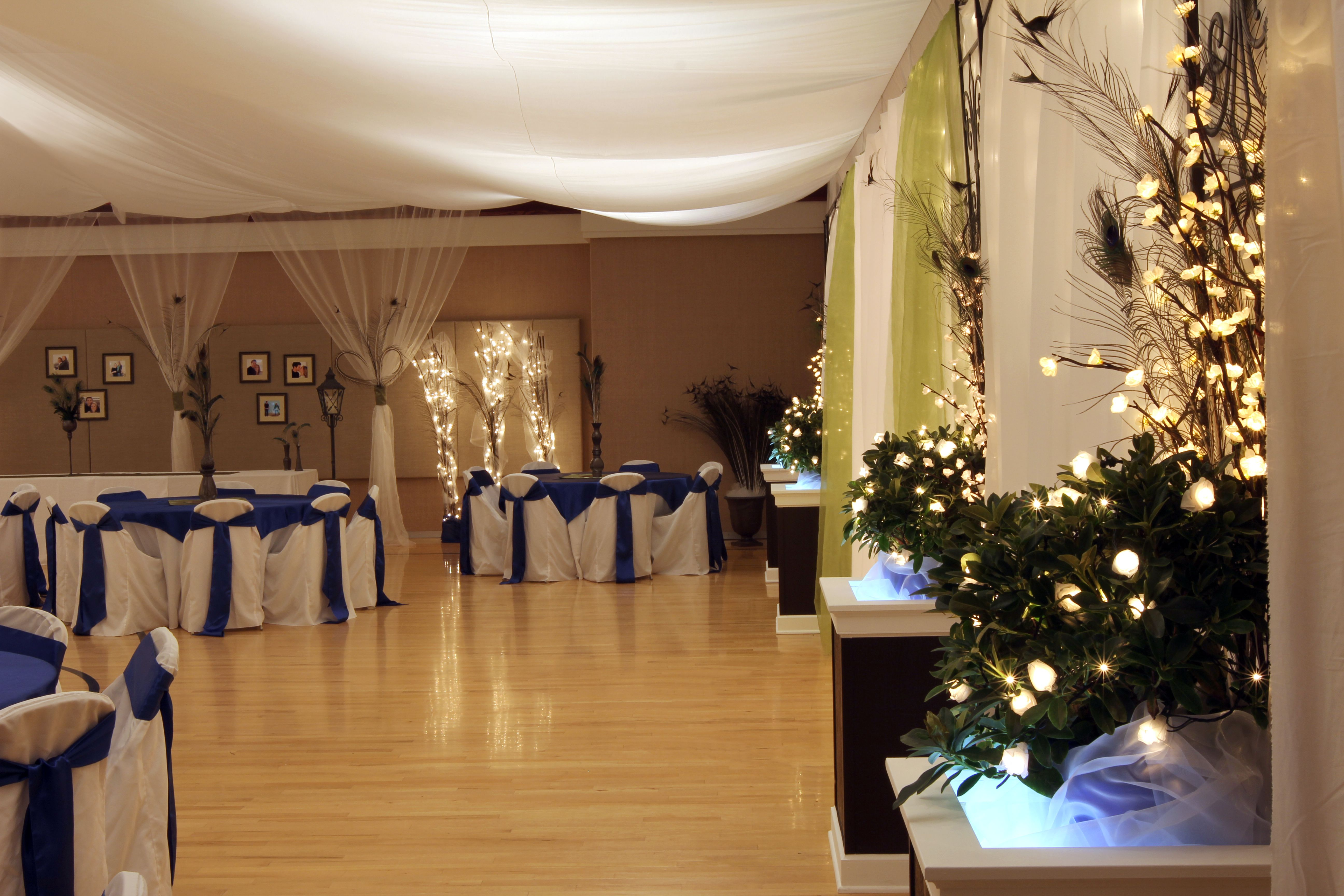 View Wedding Decor: Side View Of The Backdrop @ Grandson's Wedding Reception