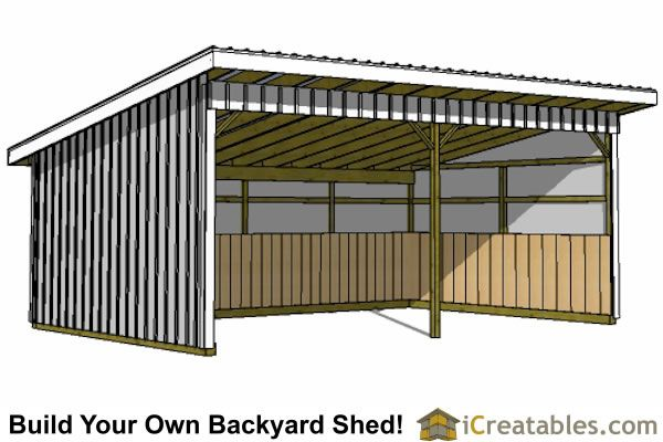 16x24 Run In Shed Plans All The Pretty Horses