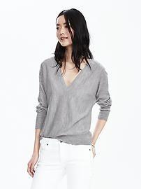 Double Vee Merino Wool Sweater