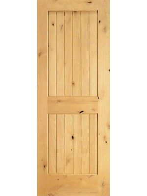 S W 96 Interior Knotty Alder Wood 2 Panel V Grooved Single Door 40 Made Byaaw Sku S W 96 1 Single Doors