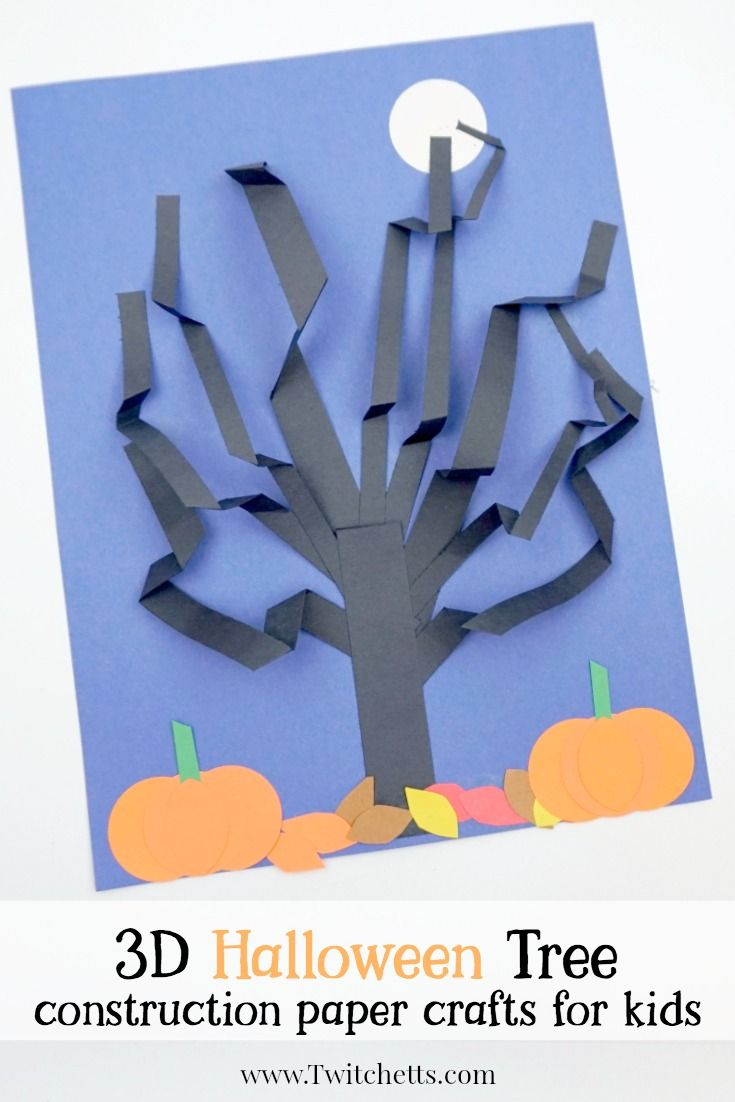 halloween construction paper 3d tree 3d tree paper trees and