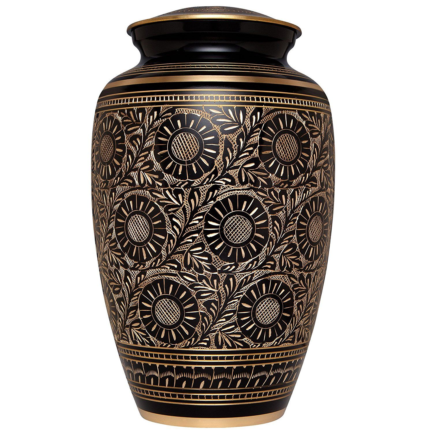 Cremation Urn for Human Ashes Leblanc Model Suitable for Cemetery Burial or Niche Pearl White Funeral Urn by Liliane Large Size fits Remains of Adults up to 200 lbs Hand Made in Brass