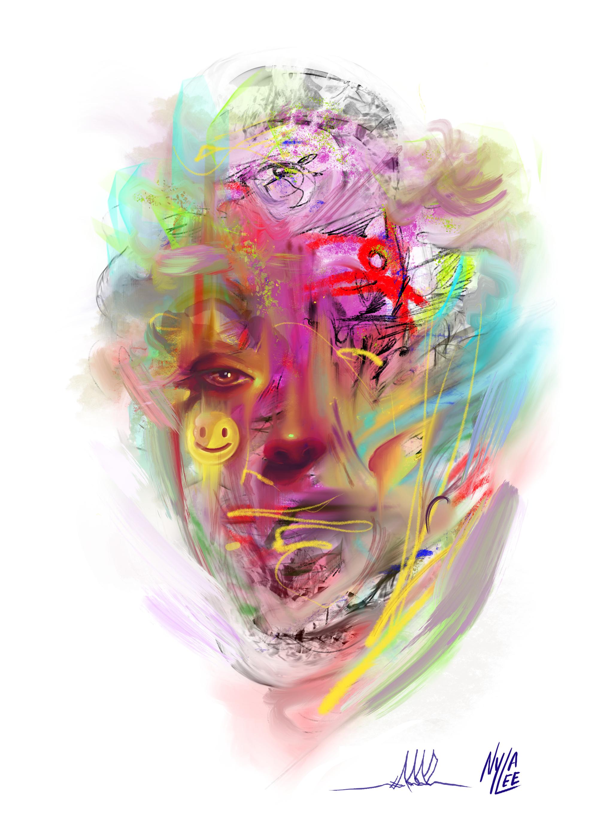 KOOZ X Nyla Lee in 2020 Pretty art, Pastel punk, Face art