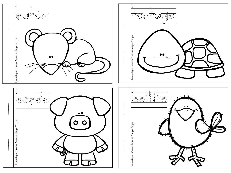 Mi Libro De Colorear De Animales Domesticos 3 Animalitos