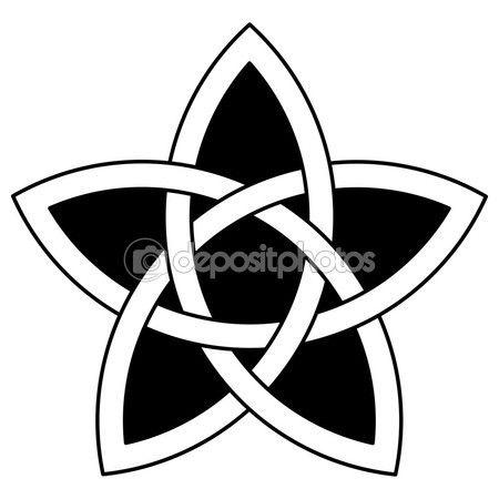 5 Point Celtic Star Knot Vector Illustration Sibling