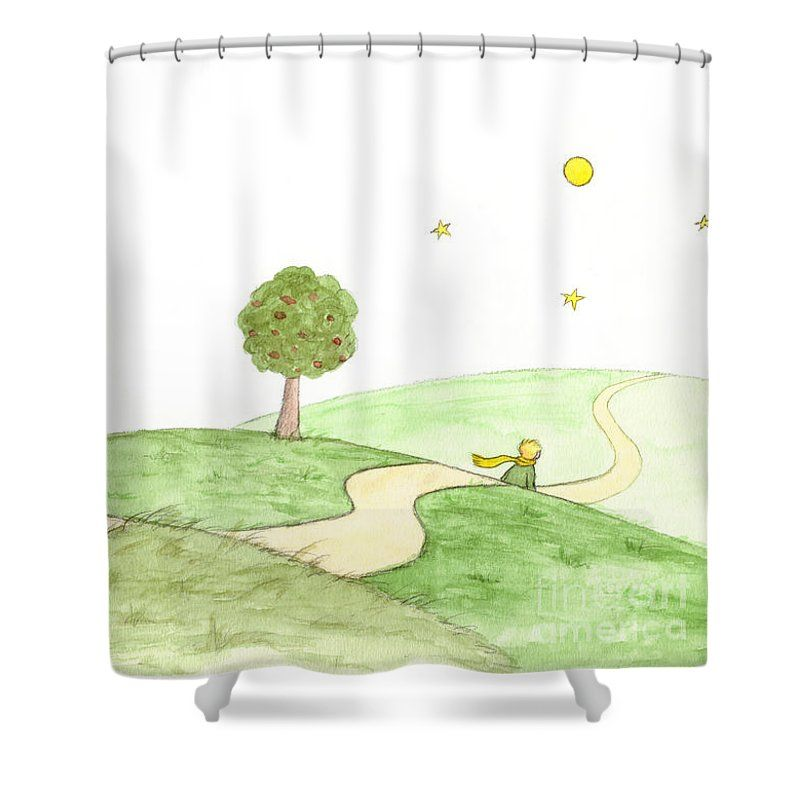 The Little Prince And The Fox Shower Curtain For Sale By Marylene