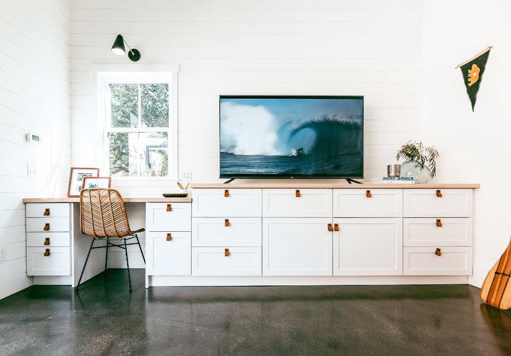 Custom Desk and Media Center Using Ikea Sektion and