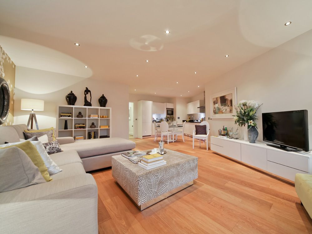 A Spacious Living Room In This Beautiful London Apartment