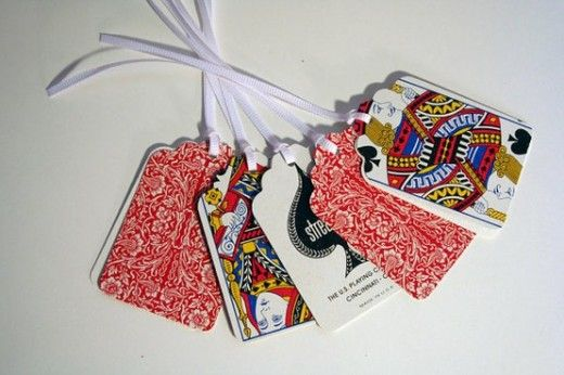 10 Creative Ways To Reuse Old Playing Cards Playing Card Crafts Diy Playing Cards Gift Tag Cards