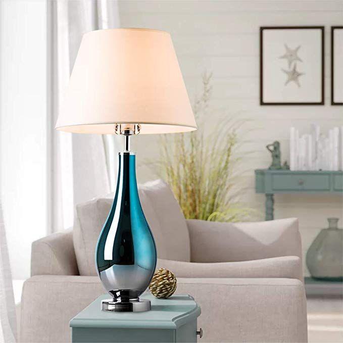 Table Lamps Set Of 2 Bule Ombre Glass 28 Side Bedside Table Desk Lamp For Bedroom Nightstand Living Room O Table Lamp Bedroom Night Stands Table Lamp Sets