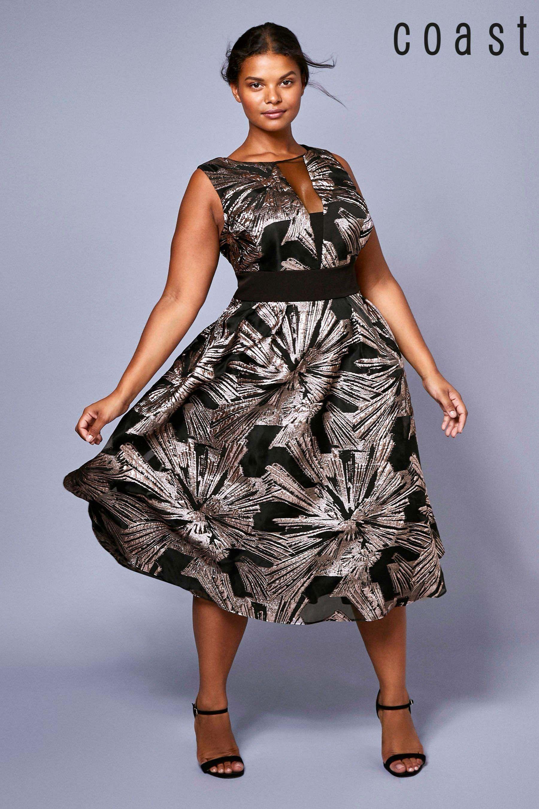 9087cd51ac248 Womens Coast Rose Gold Curve Emele Jacquard Dress - Pink | Products ...